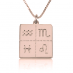 Engraved Zodiac Sign Necklace